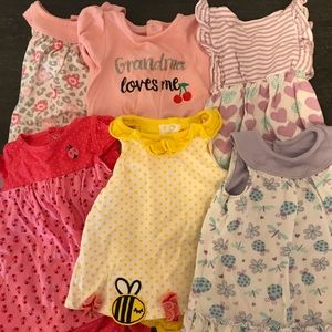 Dress Onesie 6 Piece Baby Girl Bundle